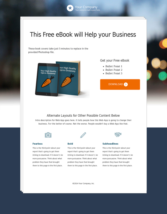 5 types of landing pages every small business owner needs this is a more simplistic approach to marketing an ebook but the results are still effective this is in the top 10 of highest converting templates in the fandeluxe Image collections