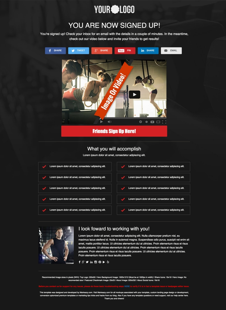marketplace 5 personal trainer templates for building high