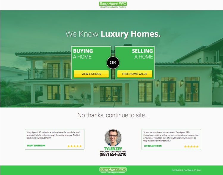 Real Estate Templates For Building HighConverting Landing Pages - Real estate landing page template free