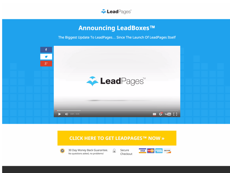 15 types of landing pages that really grow your business give away your free videos and use them boost your sales leadpages template video lesson page pronofoot35fo Choice Image