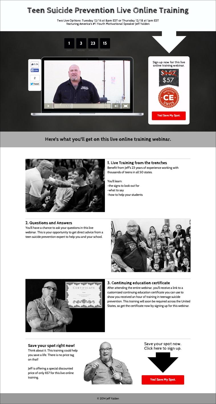 Jeff Yalden Landing Page