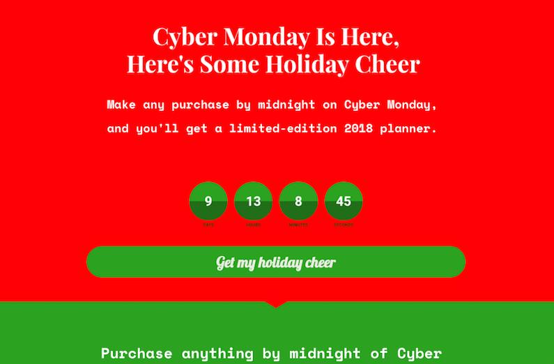 bold cyber monday page