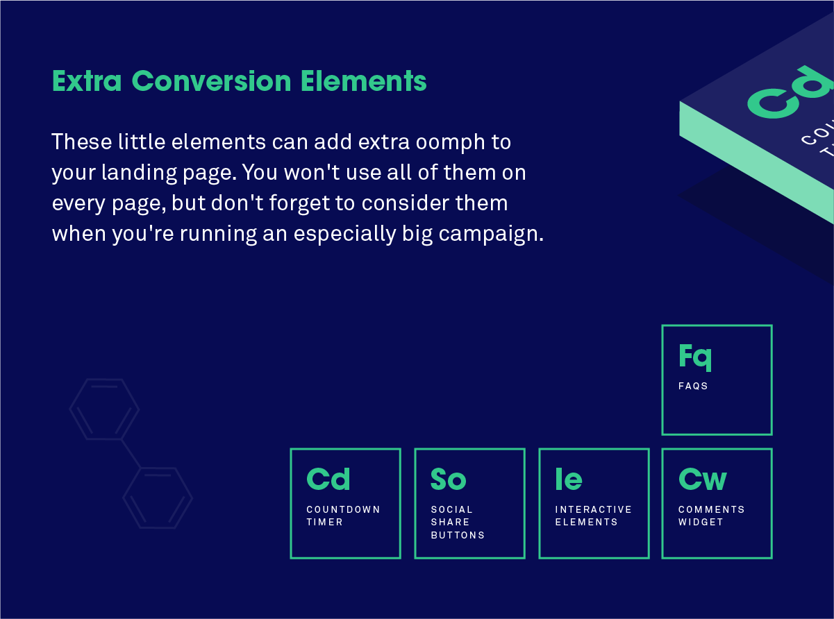 The periodic table of landing page elements and how to use them 7 extra conversion elements little tricks to boost your success rate gamestrikefo Images