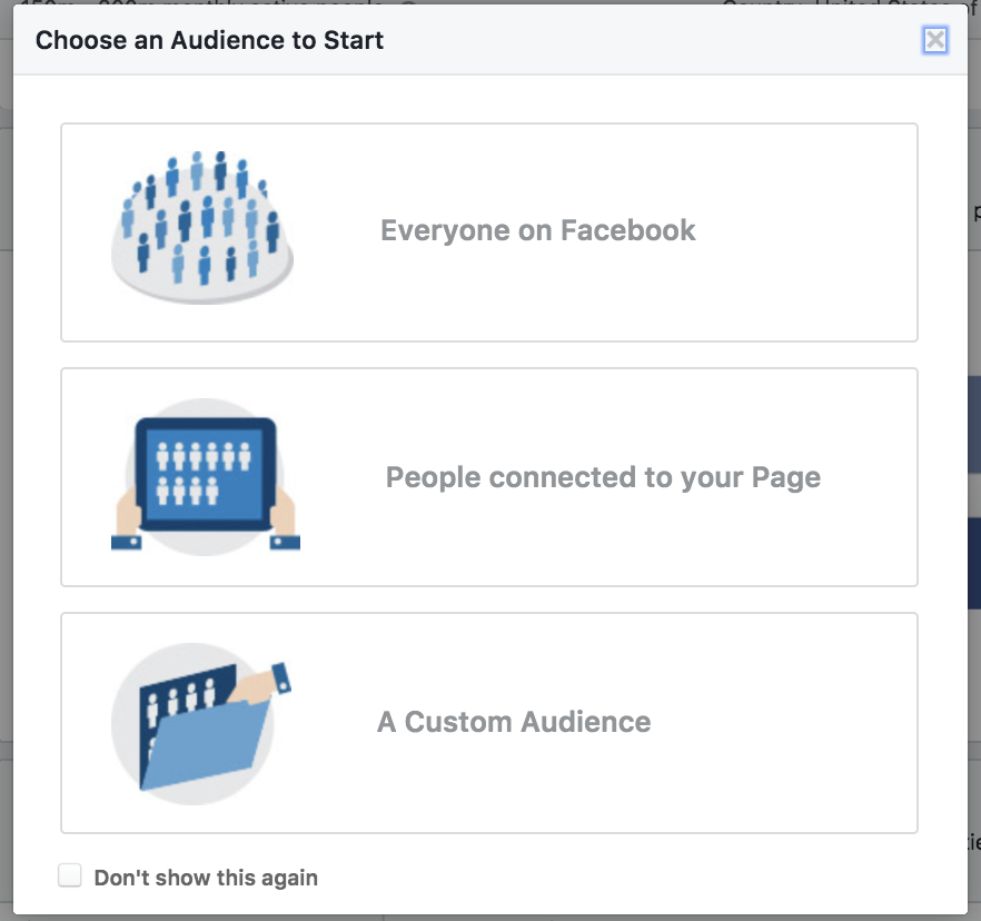 Choose Your Facebook Audience for Insights
