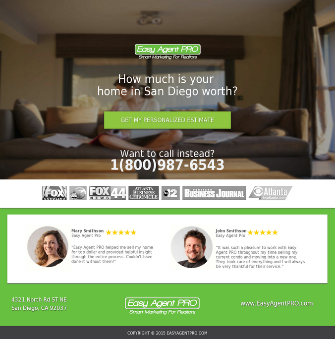 5 Real Estate Templates For Building High Converting Landing Pages