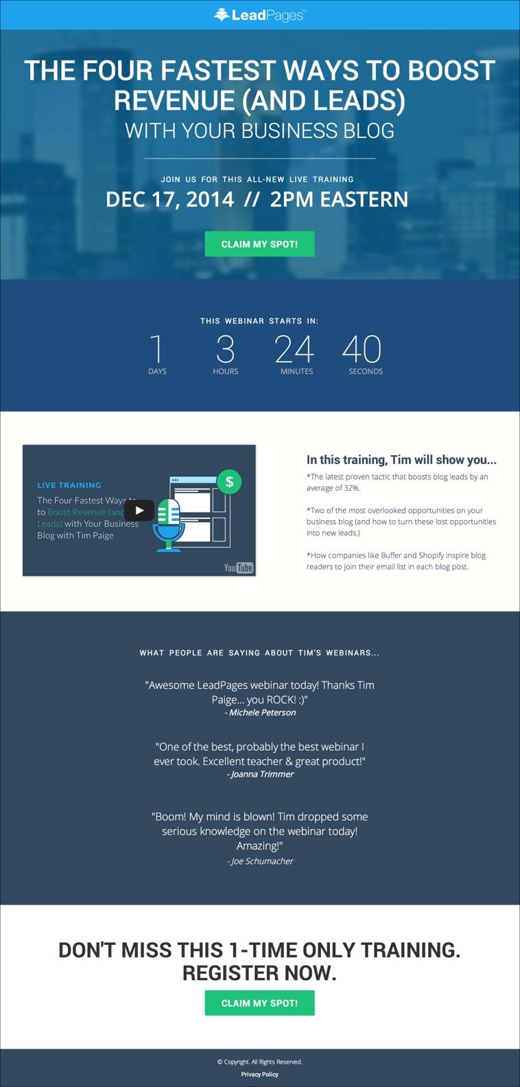 The Modern Webinar Template
