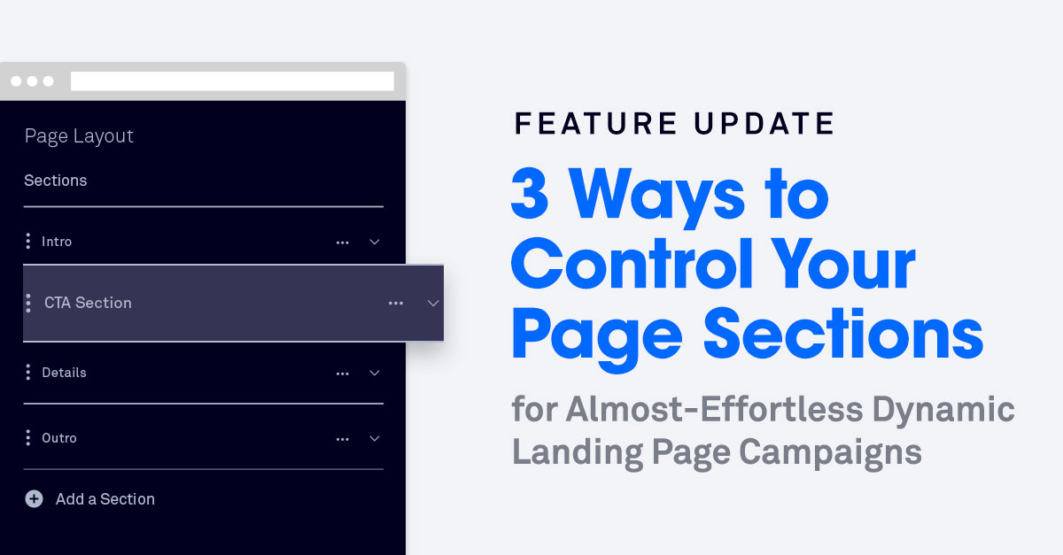 3 Ways to Control Your Page Sections for More Dynamic